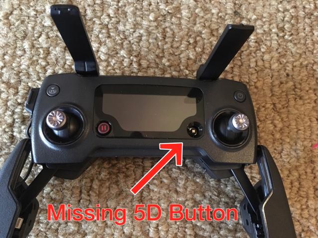 Controller 5D button missing | DJI Mavic Drone Forum