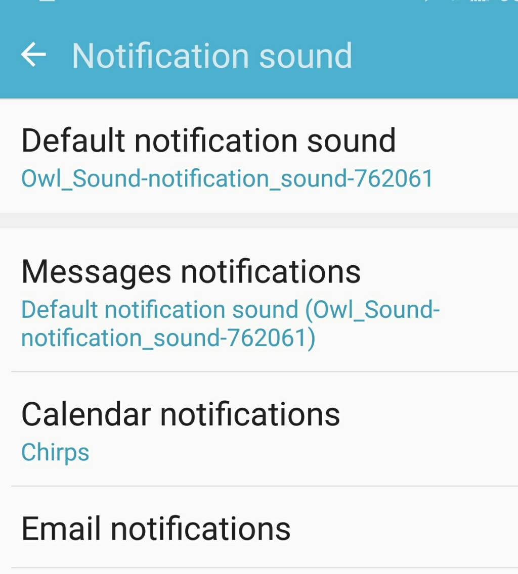 wav notification sounds samsung