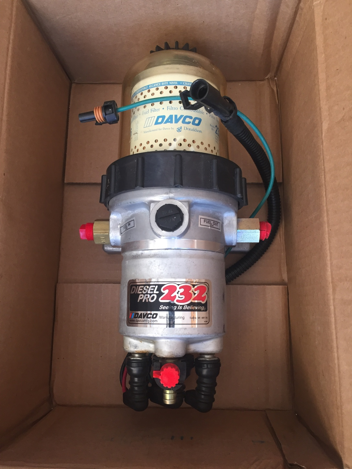 davco diesel pro 232 fuel filter assembly w/electric heater -new      $135+shipping
