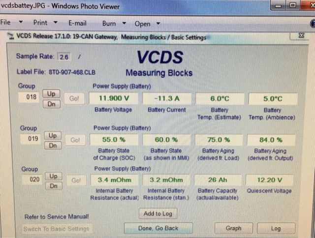 Check battery status with vag-com (quite useful)