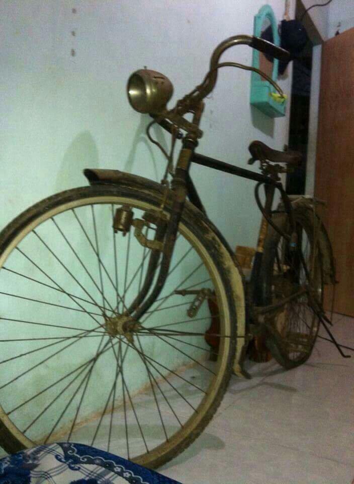 Xe đạp cổ alcyon.