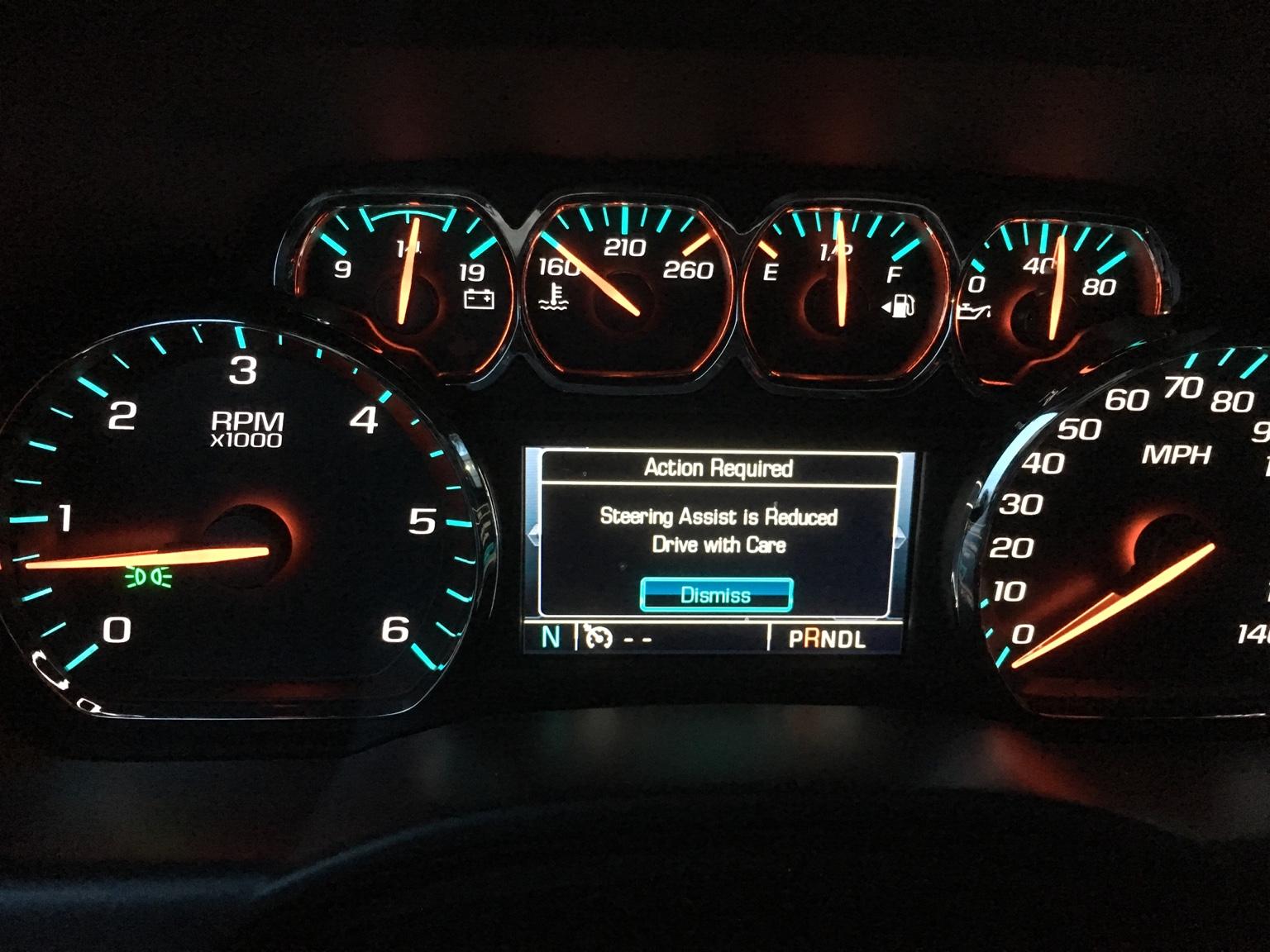 Steering assist reduced - 2014 - 2018 Chevy Silverado & GMC