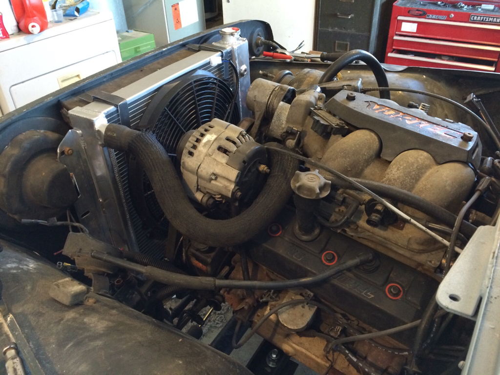 93 Huntsman Build 53l Swap Jeep Wrangler Forum Painless Wiring Tj Might Also Be Able To Use Adapt A Ford Taurus Fan Its And Shroud In One Unit Google Probably 100 New Cheaper At Junk