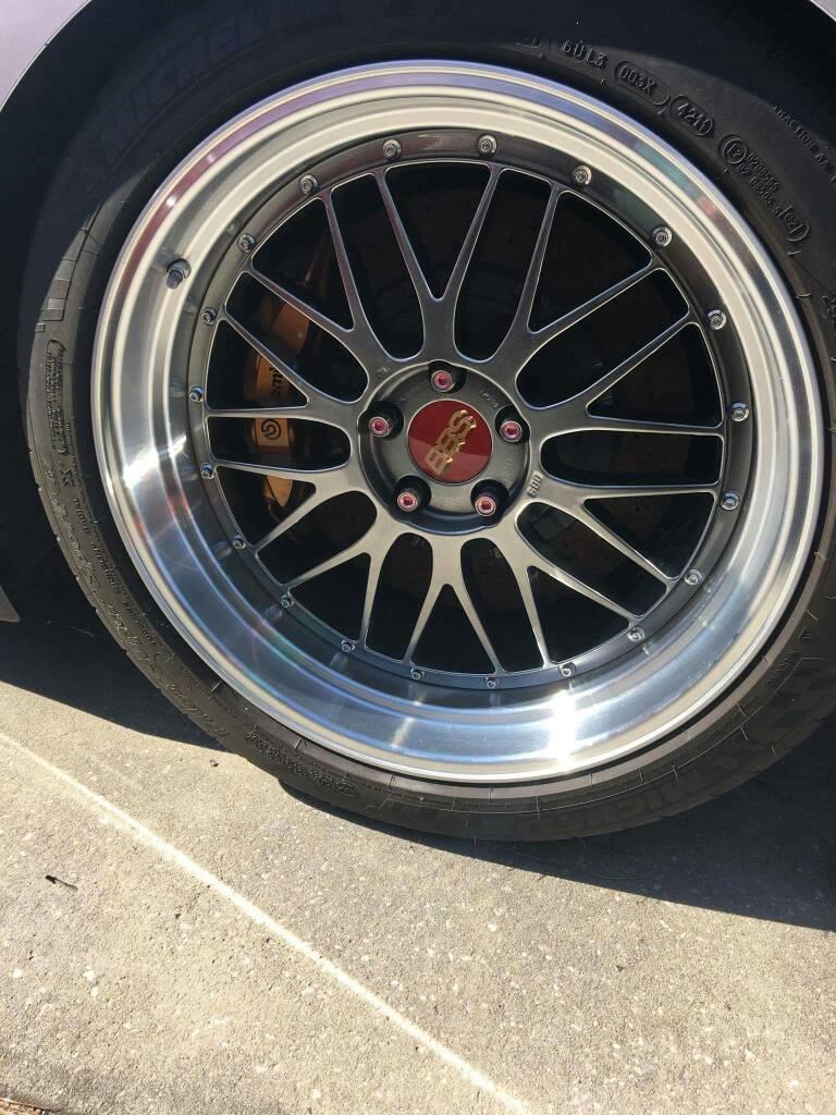 Diamond Black Bbs Lm 20x9 5f 20x10 5r Wheels Tires Gt R Life