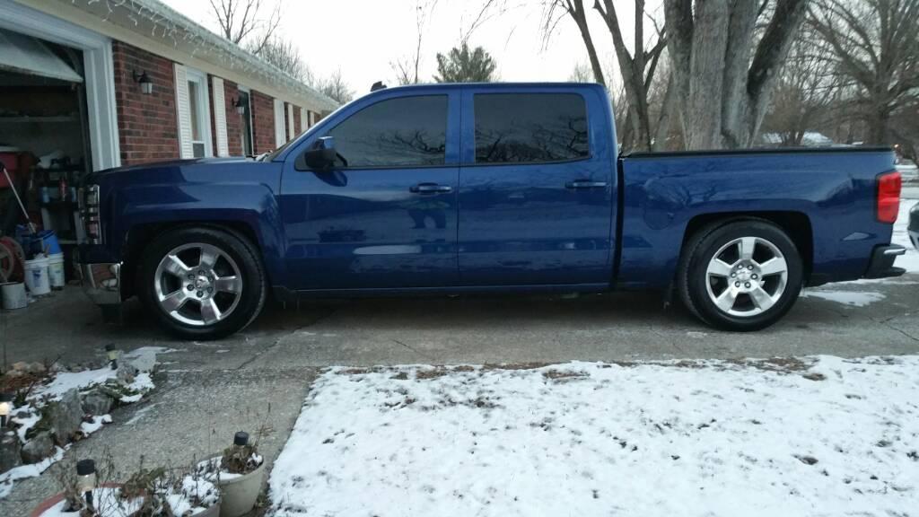 lowered guys whats  tire size   silverado sierra mods gm truckscom