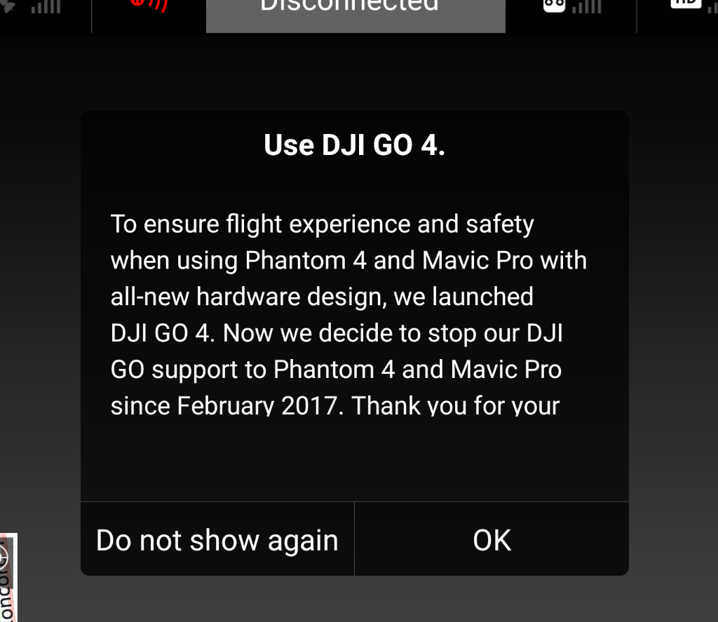 ec996c2f781 Just wanted to point this out to everyone still using DJI GO app with their  P4 . You may want use DJI GO 4 with the P4 now as it appears DJI ...