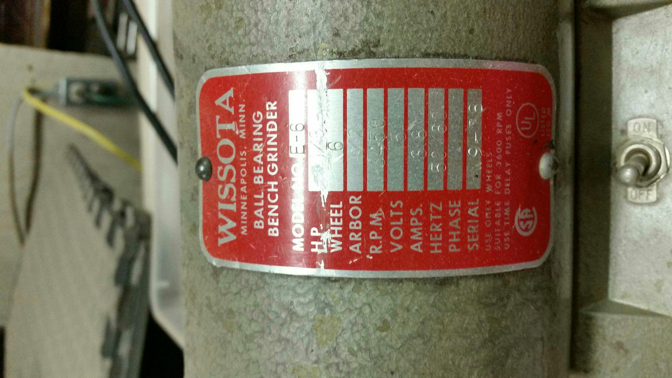 Fantastic The Unofficial Wissota Grinder Thread The Garage Journal Board Ibusinesslaw Wood Chair Design Ideas Ibusinesslaworg