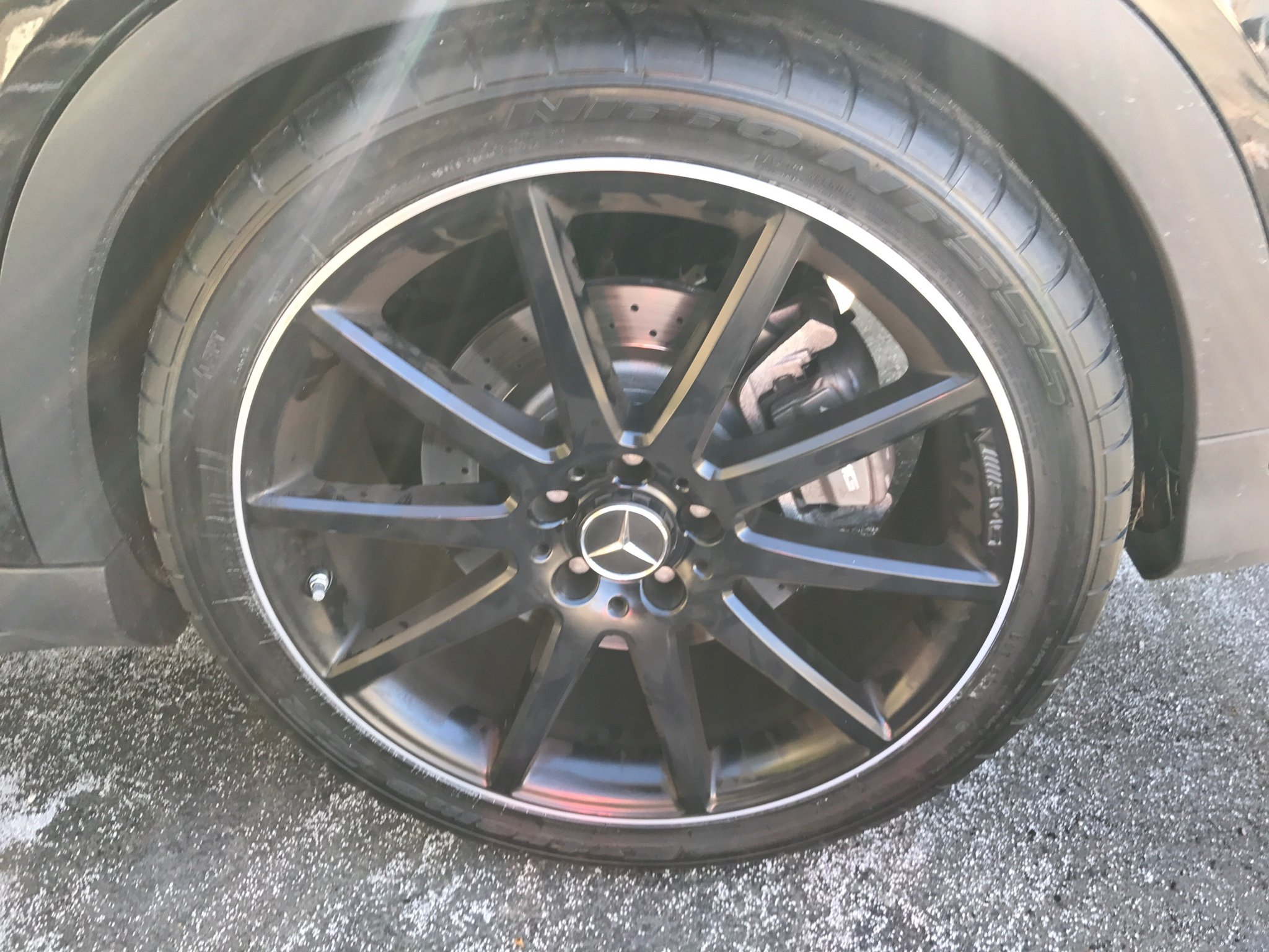 only 8k miles and need to replace both front tires already page 3 mercedes gla forum. Black Bedroom Furniture Sets. Home Design Ideas