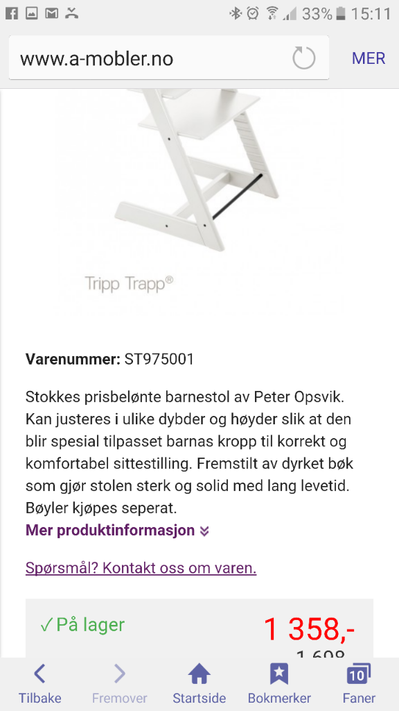 Stokke tripp trapp stol | Babyverden Forum