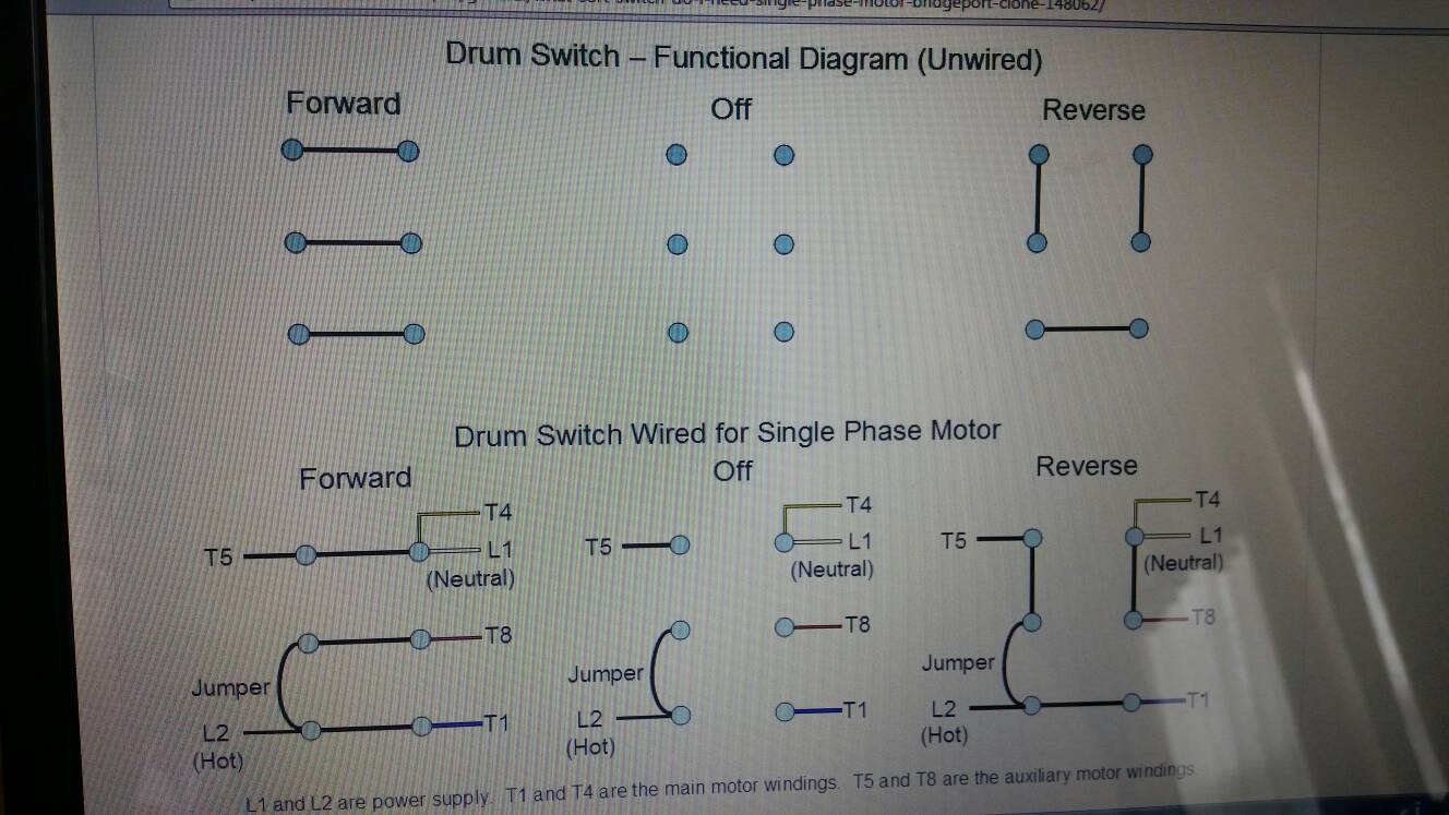 Finally Bought A Drum Switch And Need Help Wiring 3 Phase Diagram Bridgeport Sent From My Samsung Sm G900a Using Tapatalk