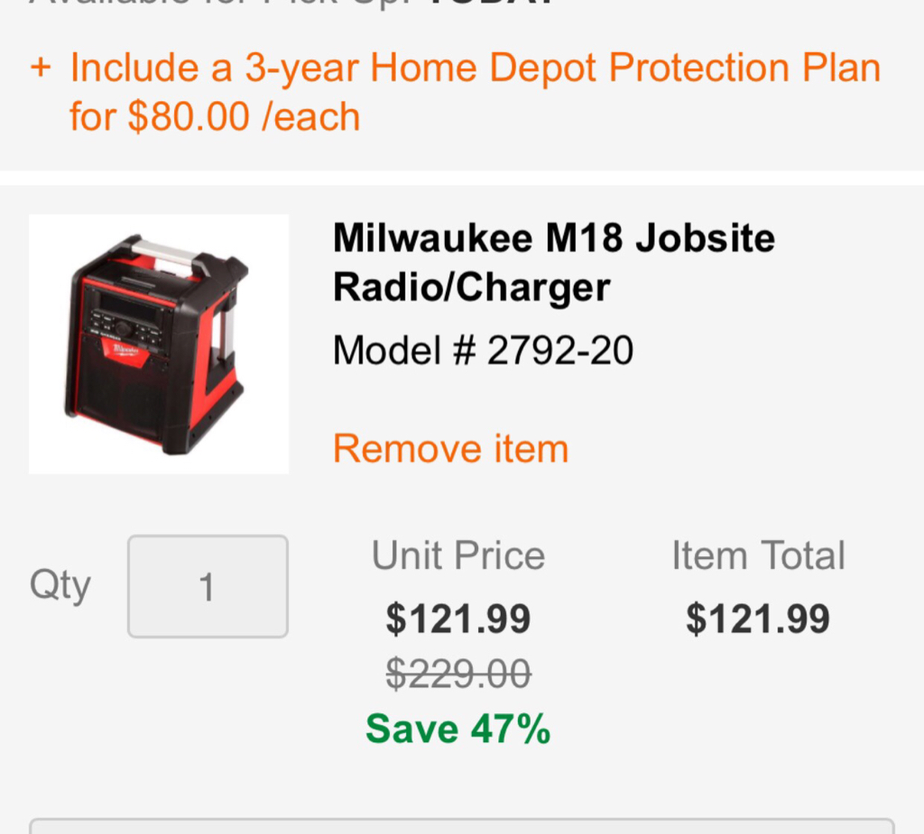 Milwaukee Power Tools Deal Thread The Garage Journal Board - Home depot protection plan