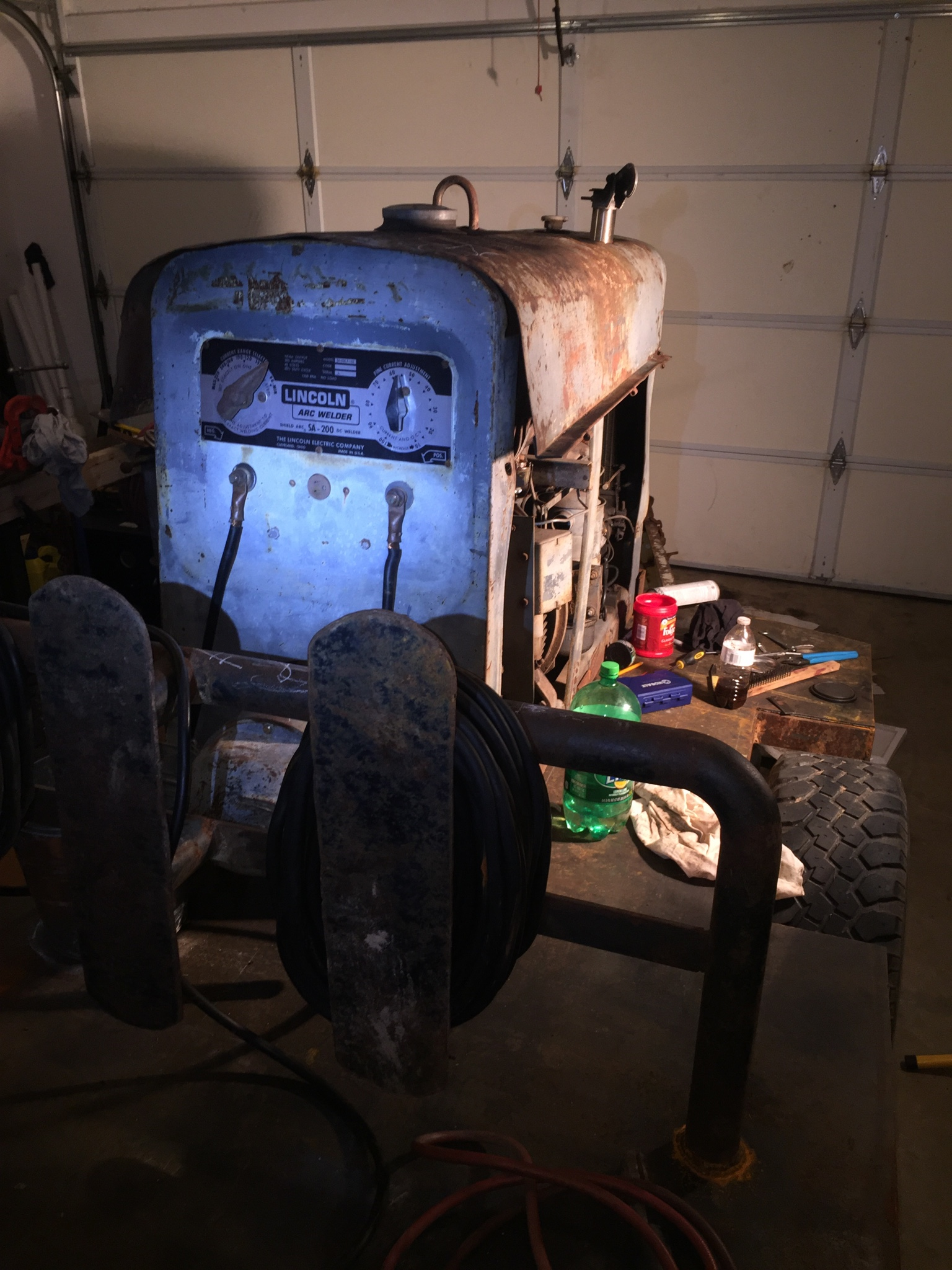Different Way To Find Year Of Sa 200 F163 Lincoln Welder Here Are Some Pictures I Have It Dont Know If That Helps Any