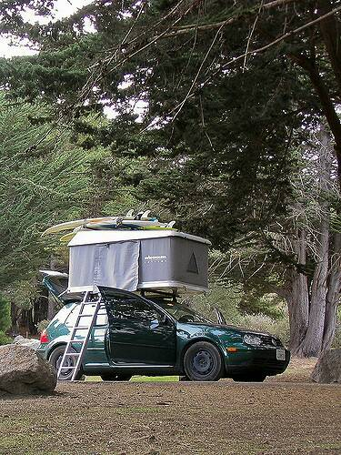 Caddy with hardshell rooftop tent - CADDY2K com