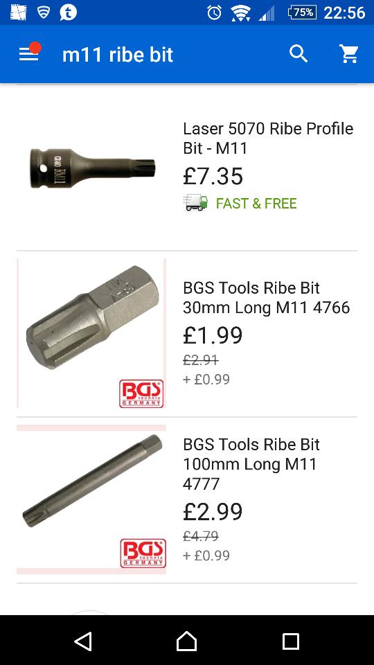 M11-5070 Laser Tools Ribe Profile Bit