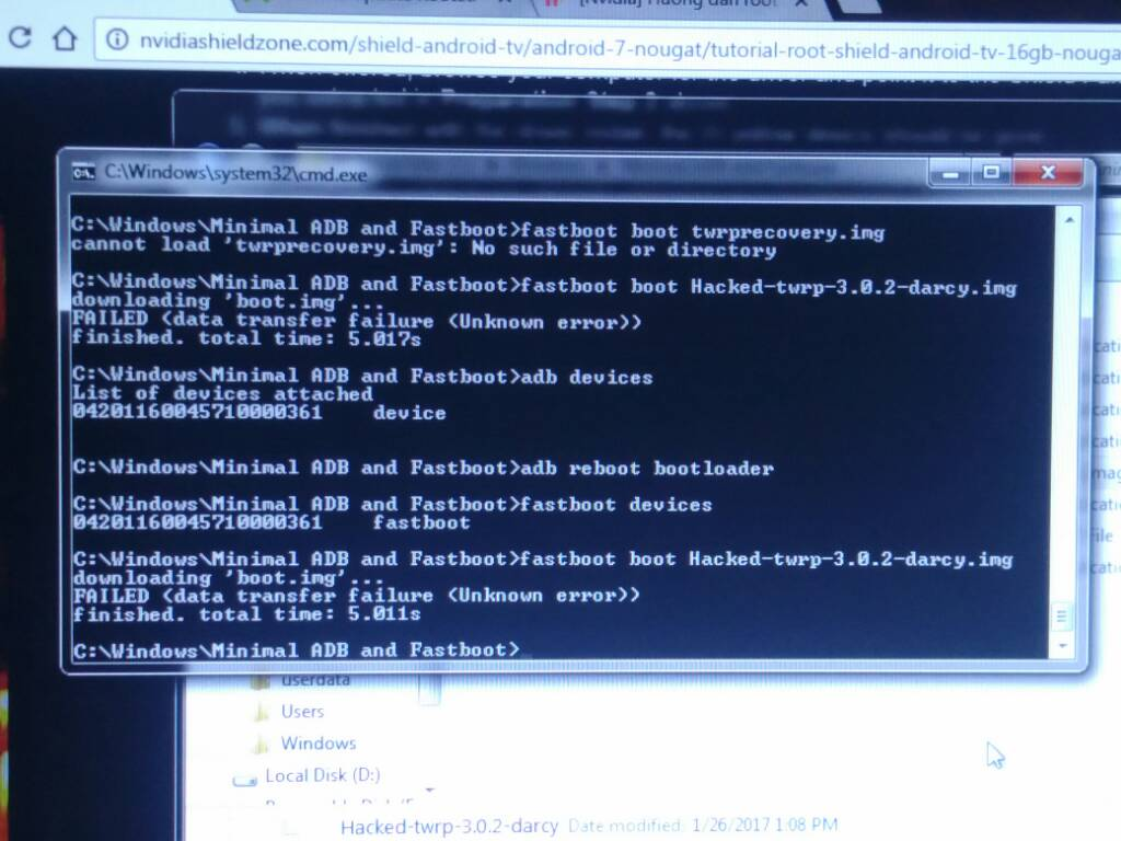 Adb Reboot Bootloader Failed