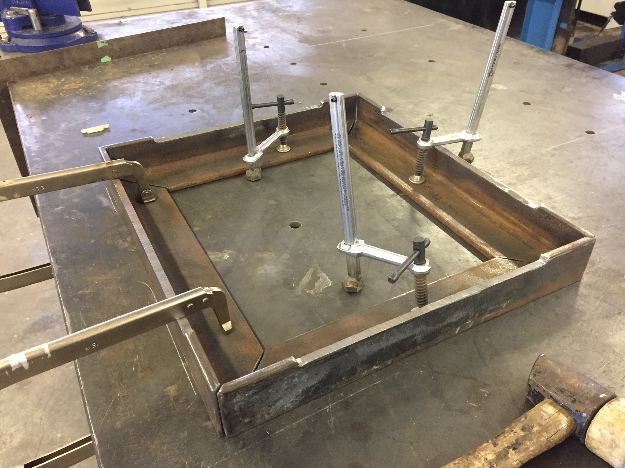 Welding Table How To Add Clamps Question