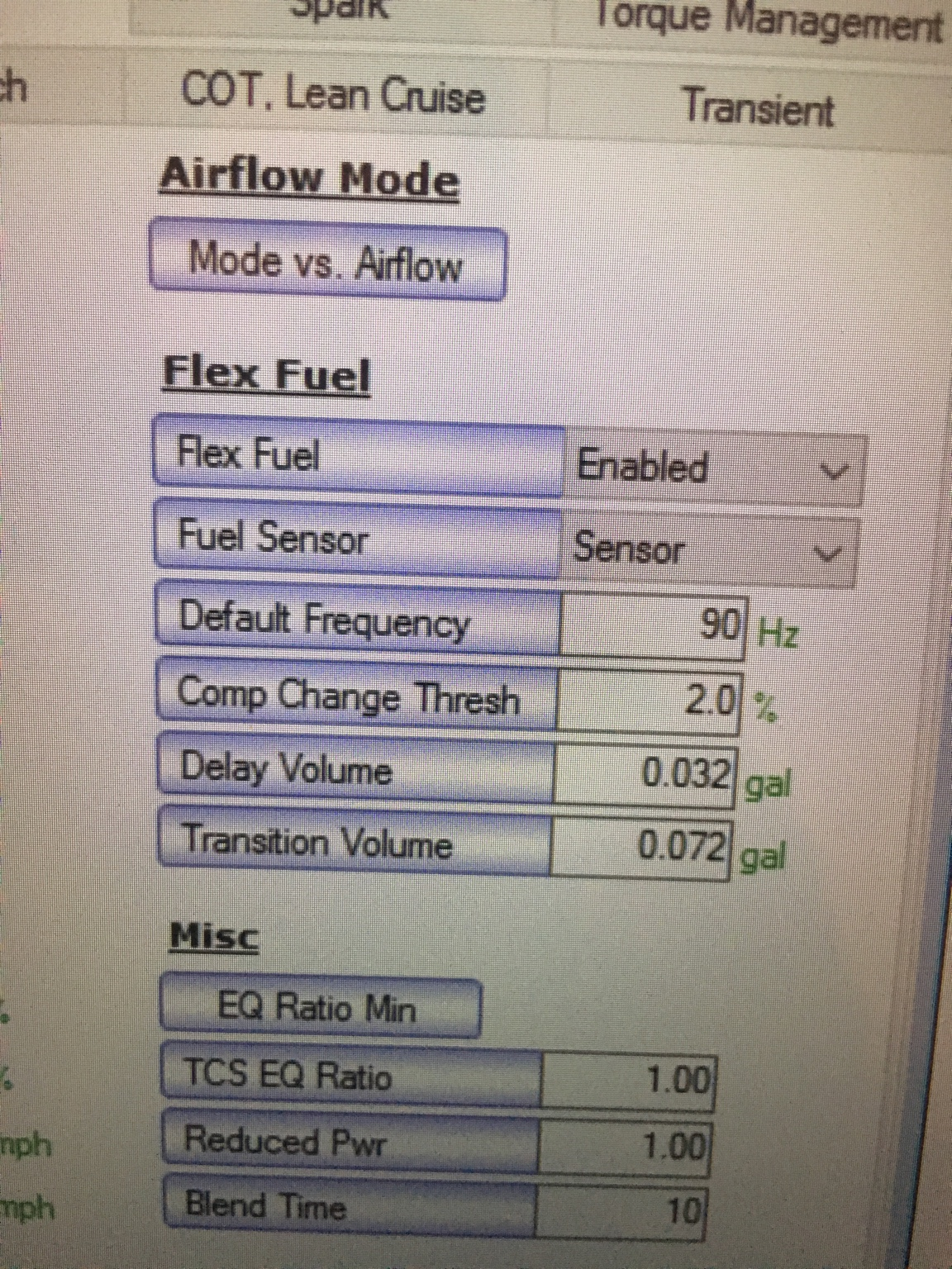 E85/FlexFuel - What to change in HPTuners
