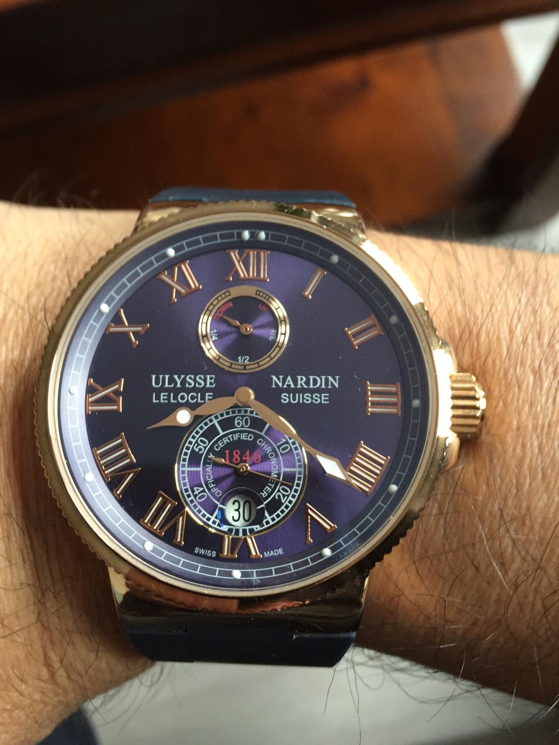 Копия часов: ulysse nardin (улисс нардэн) коллекция: maxi marine chronometer модель: ulysse nardin le locle suisse.