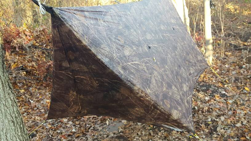 Note the doors in this pic were tied back using dutch\u0027s tarp door hooks and shock cord. This is not included but the tarp does have the optional ... & FS: HG Camo 11ft CF Tarp with doors + cf tarp sleeve