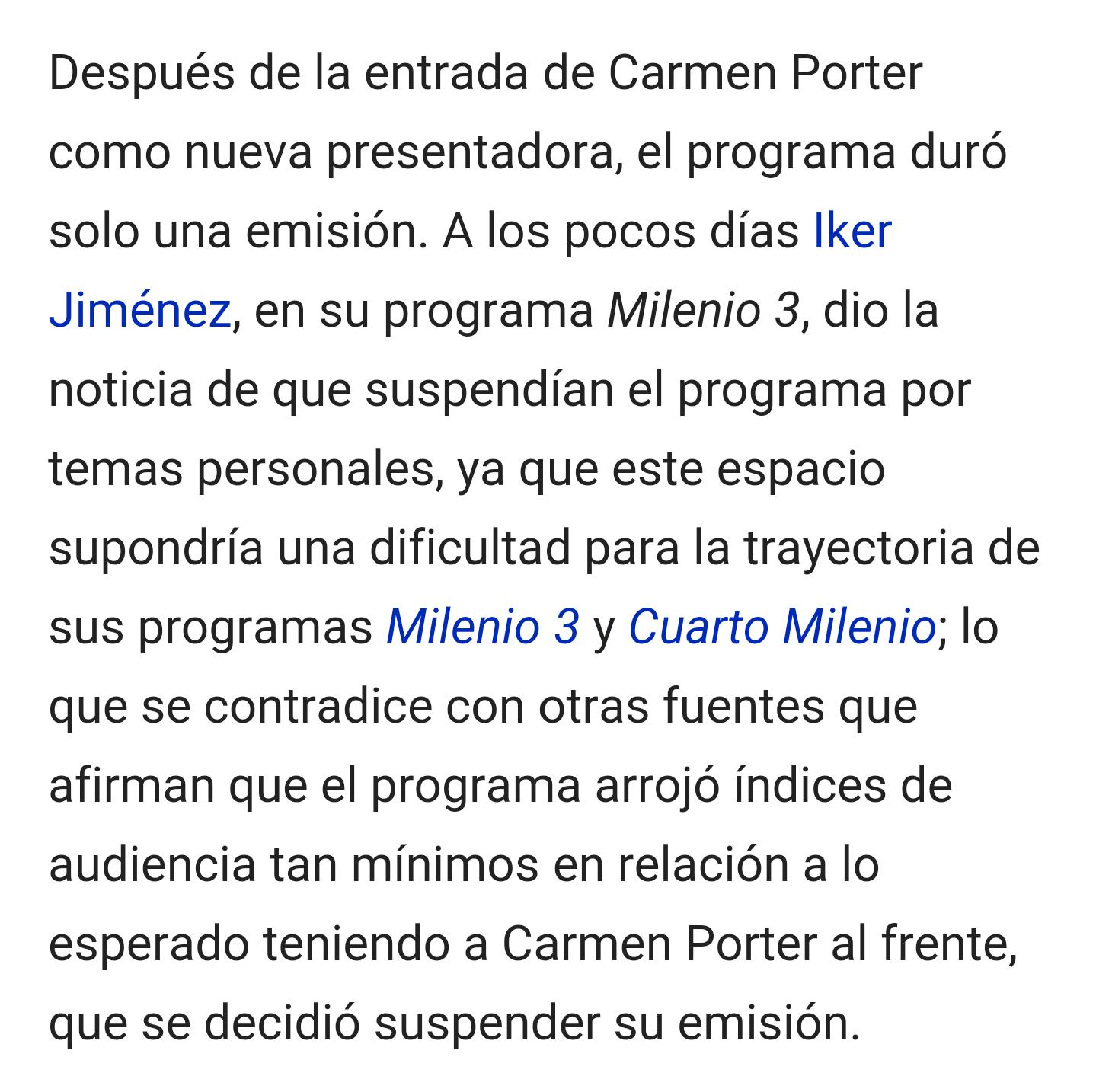 Debate Carmen porter sobra en cuarto milenio - Página 2