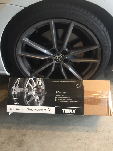 VWVortex com - Thule K Summit Snow Chains for Stock 19s