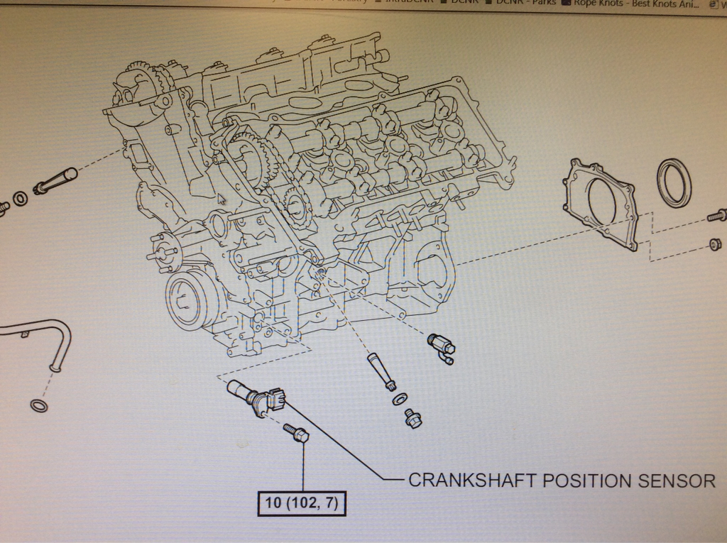 Replacing Crank Position Sensor On A 2005 V6