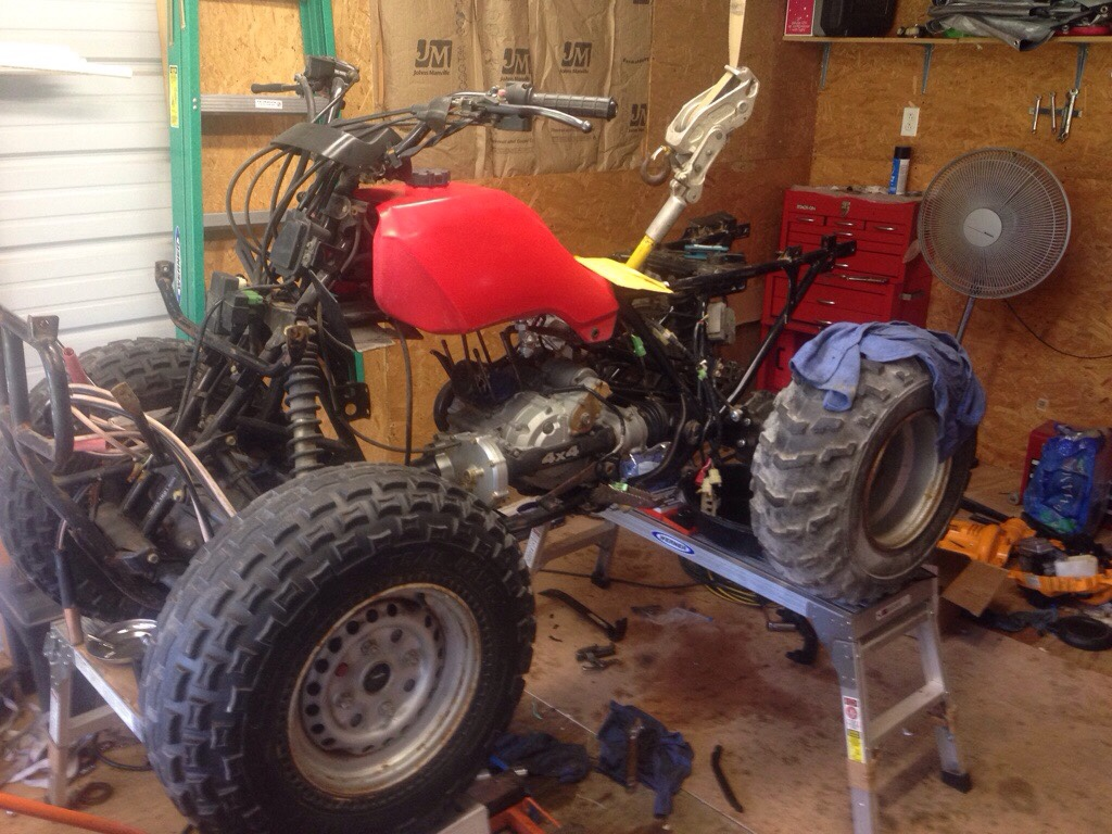 Honda Atv Forum Diy Atv Stand Jack Table