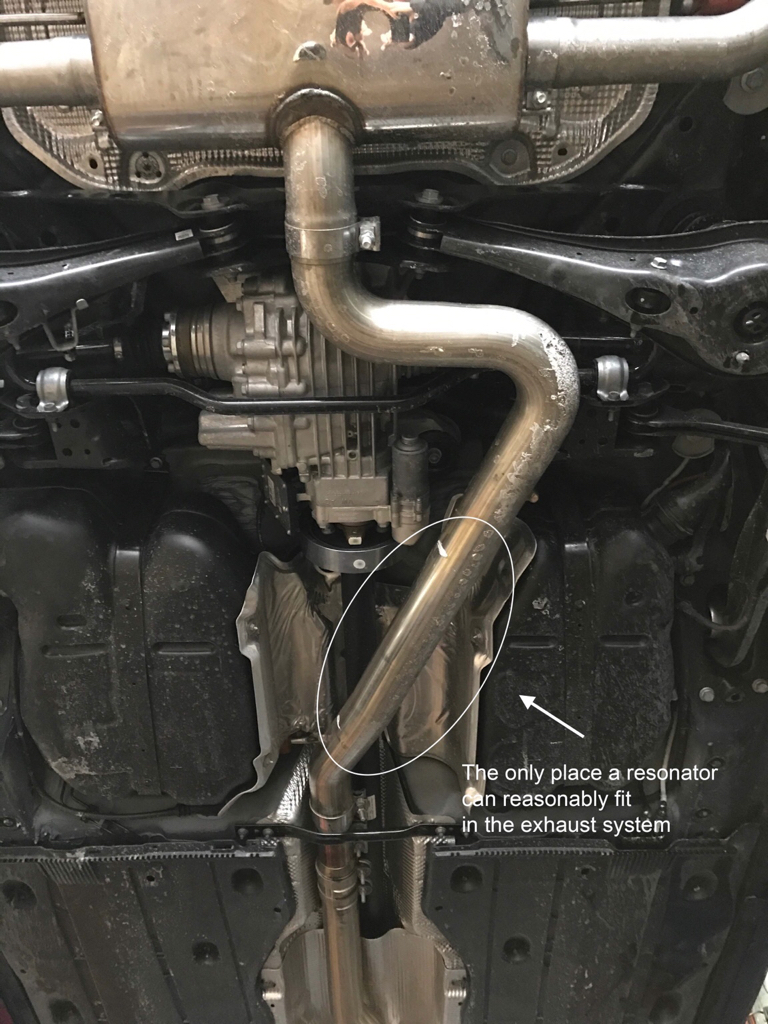 VWVortex com - DRONE! APR Downpipe (non resonated) with AWE