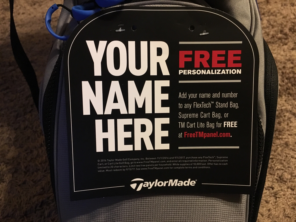 Taylormade free panel