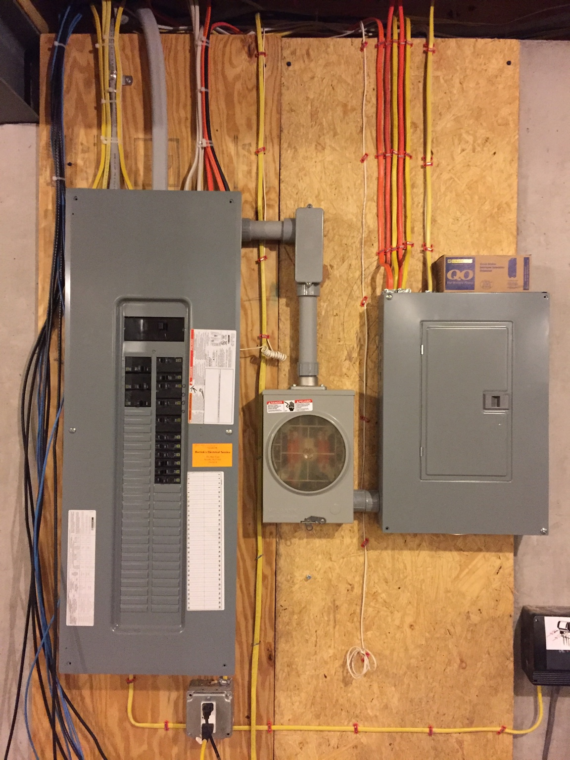 New Garage Plans Have A Question Page 3 Wiring Sub Panel There Is Second Meter In The Box Our Electric Company Cooperative And They Offer Load Control Program Everything On About