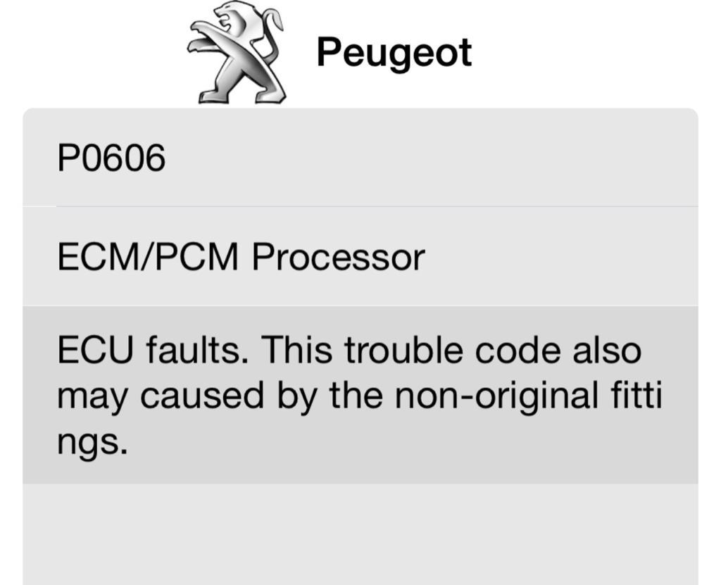 help to fix P0606 Fault code