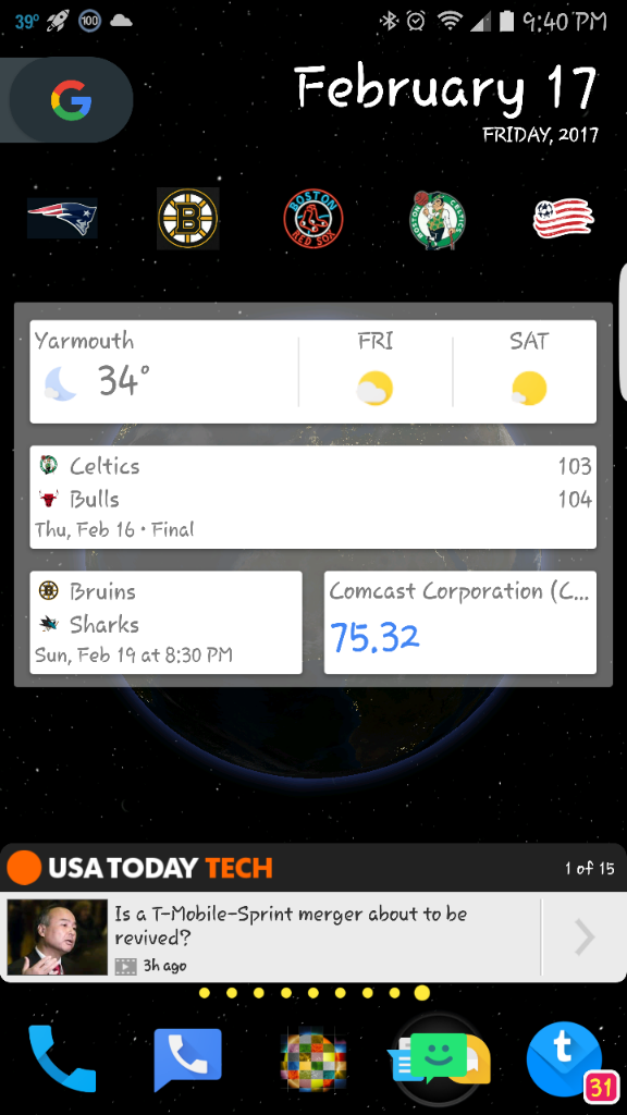 how to add google now widget