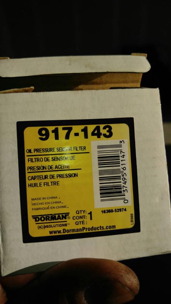 P0523 and 0 psi oil pressure FIX!! | Chevy Truck Forum | GMC