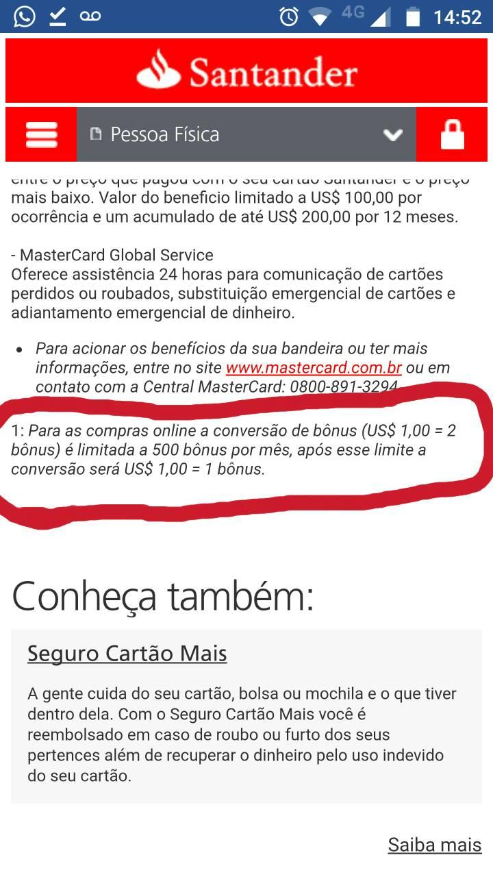 cc8d7d258d Cartão de crédito Santander MasterCard Gold 1