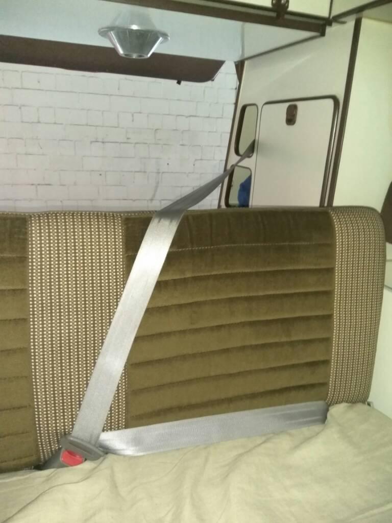 VW Bus T2 T3 Dreipunktgurt in beige vorn Sicherheitsgurt 3 Punkt Gurt NEU