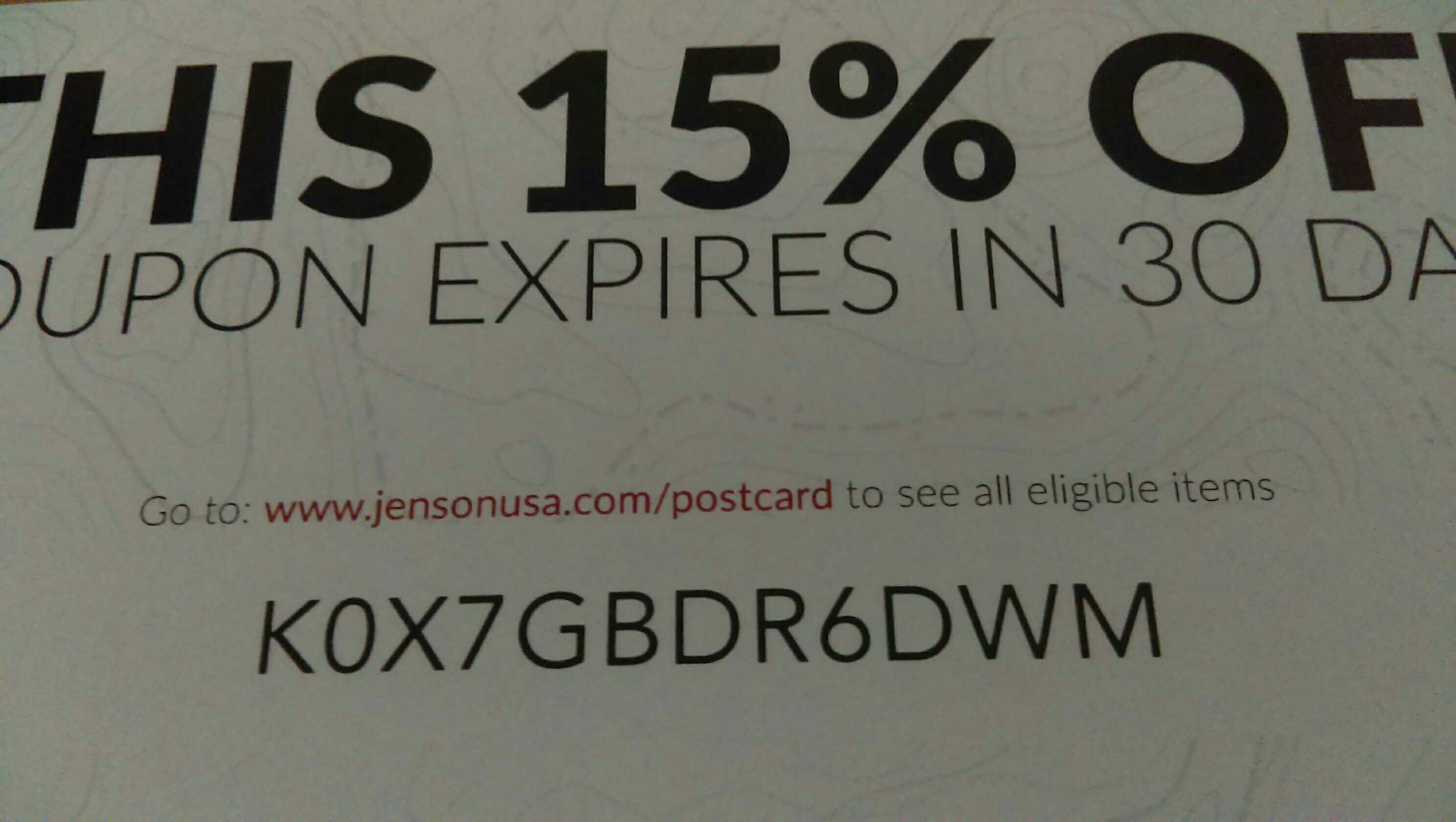 Jenson usa coupon code
