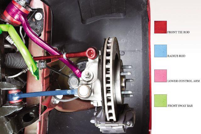 5th gen suspension parts color coded diagram camaro5. Black Bedroom Furniture Sets. Home Design Ideas