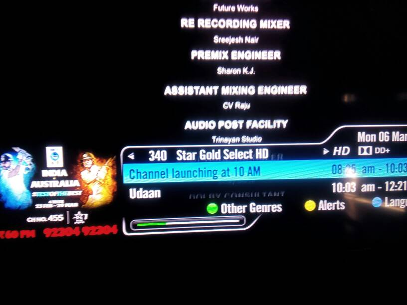 Breaking News - Star gold select hd channel launching today