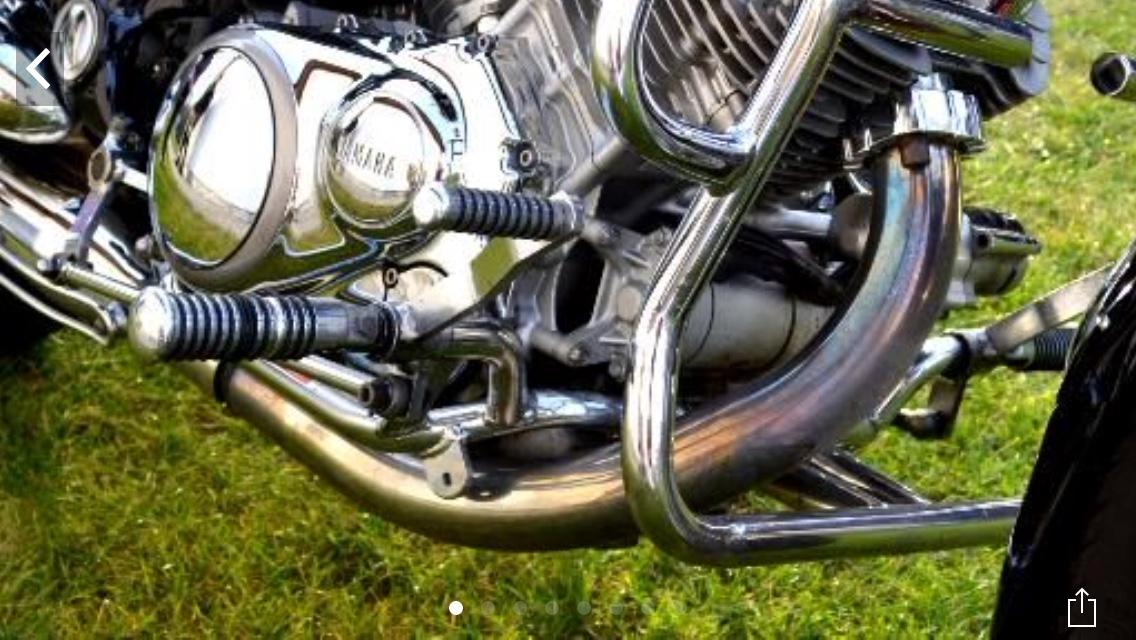 Fioletowe kolanko Virago 1100 -   :: Forum Miłośników Yamaha