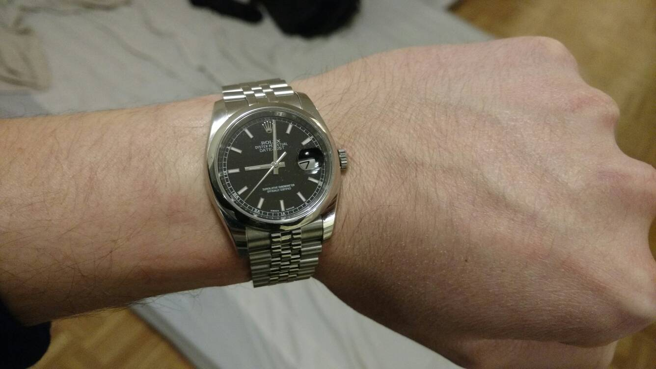 Rolex Datejust 36mm too small for man's wrist? - Page 5 ...Rolex Datejust 36mm On Wrist