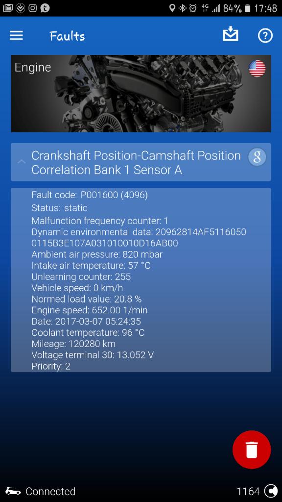 Fault Codes P0016 Crankshaft Position Camshaft