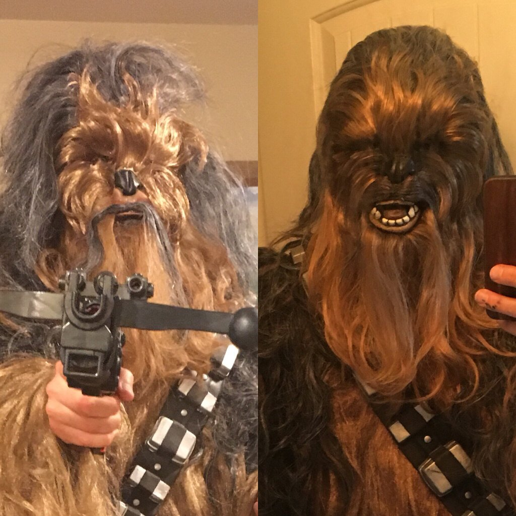 ... movie replica but rather something fun that can be worn for Halloween. I have been working on the mask and have made some decent improvements from the ... & Chewbacca China Mask (upgraded)