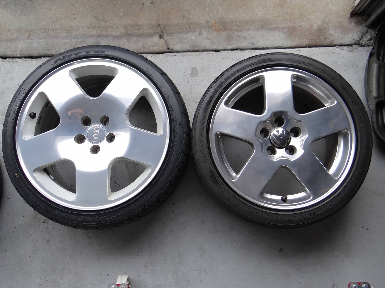 audi fat fives   running     tire size