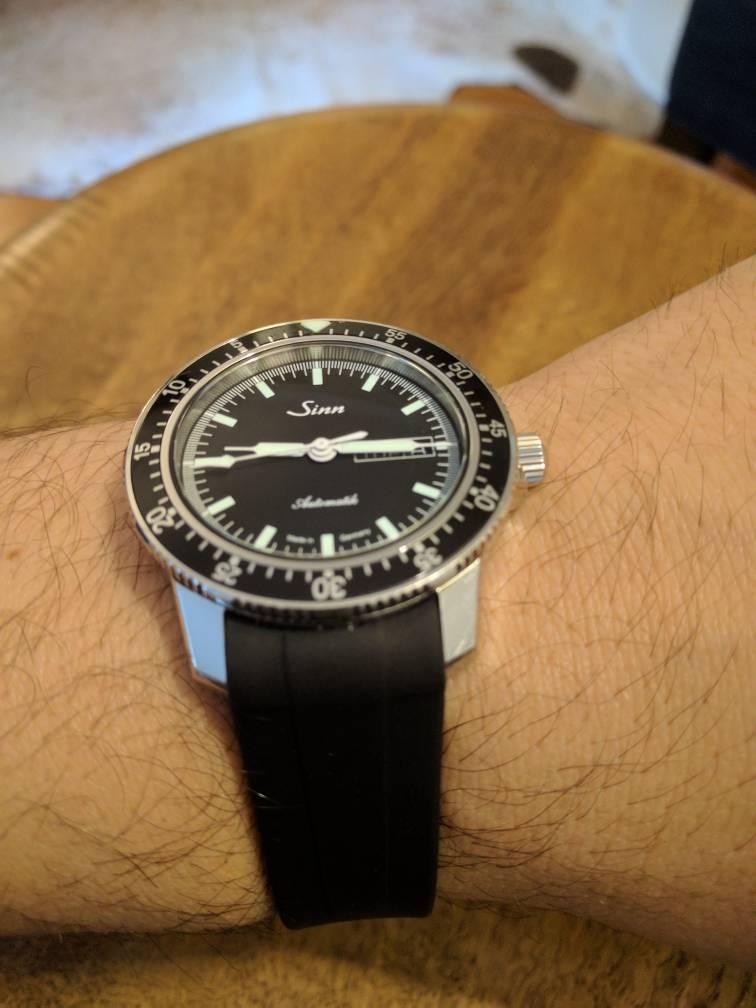 New Rubber Strap Rolex Style Ebay Sinn 104