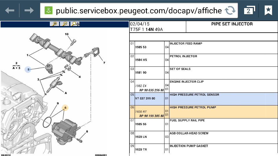 Peugeot Fuel Pump Diagram  Peugeot  Vehicle Wiring Diagrams
