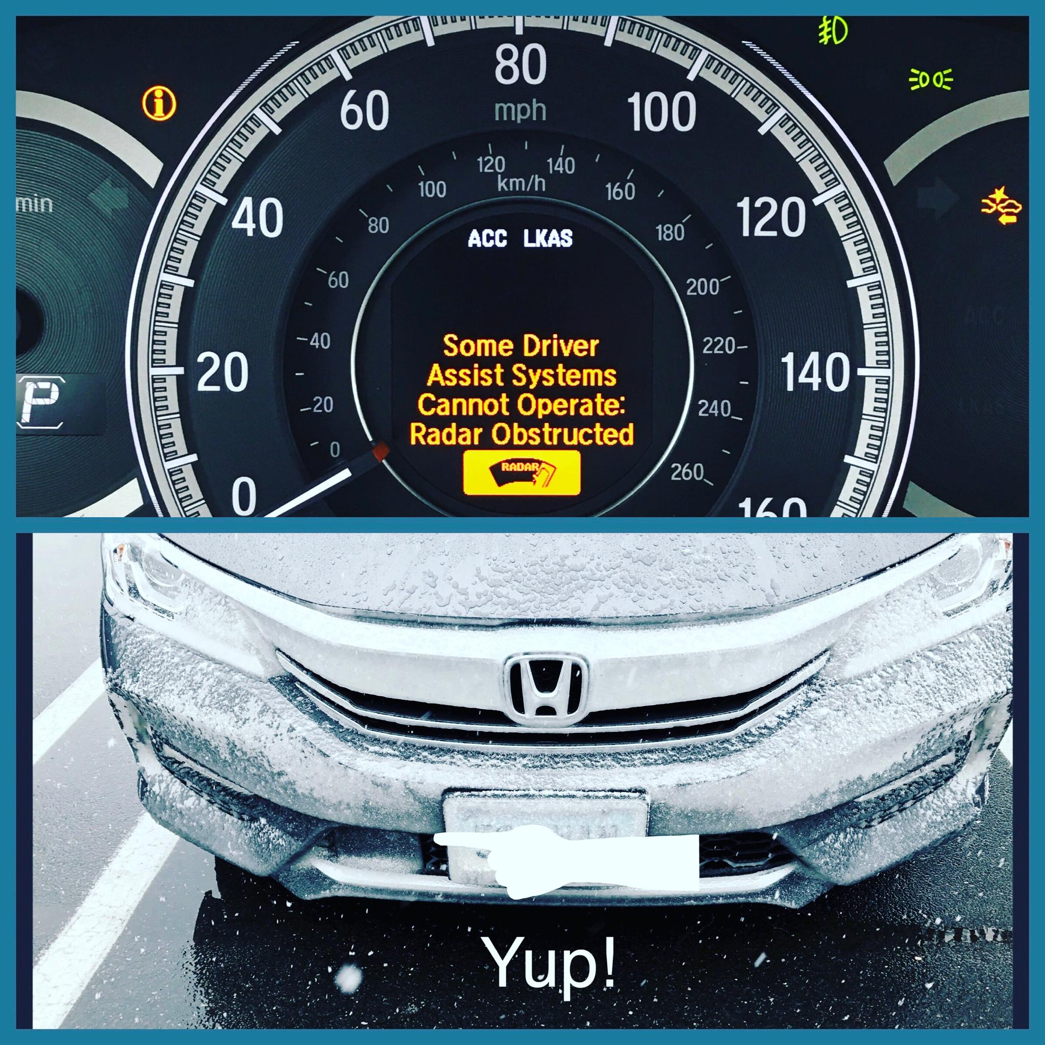 Sensing radar obstructed Drive Accord Honda Forums