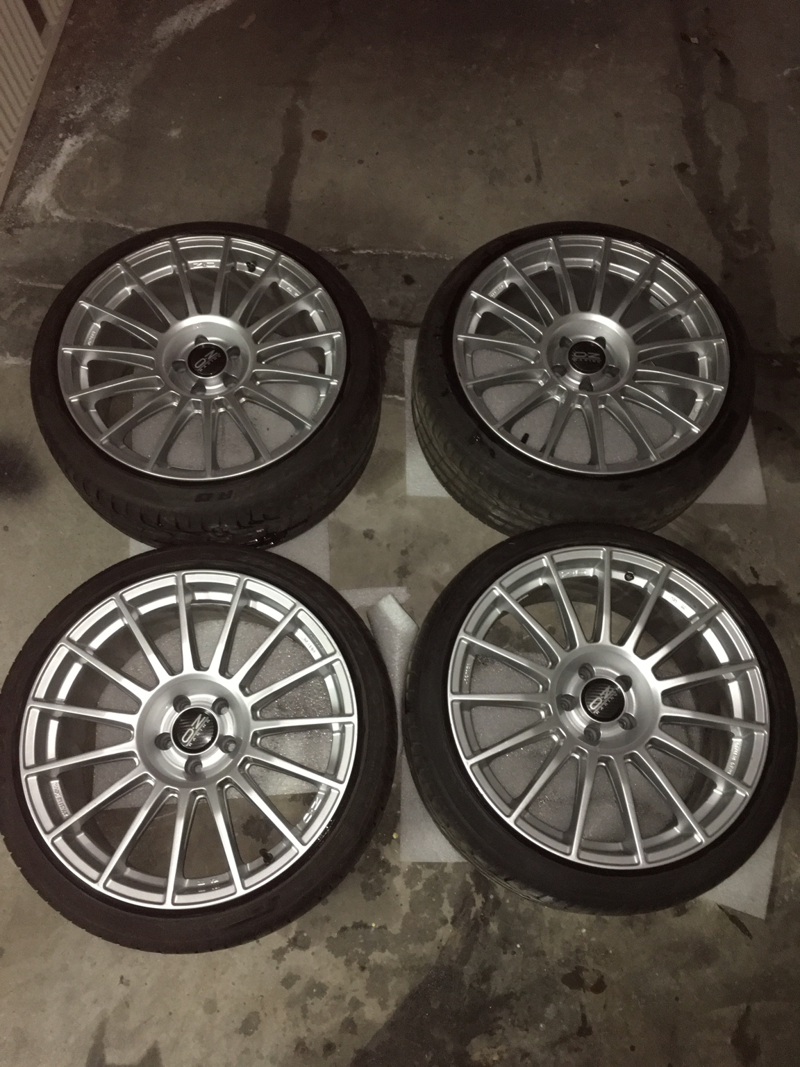 For Sale: Oz superturismo wheels with tires for sale !