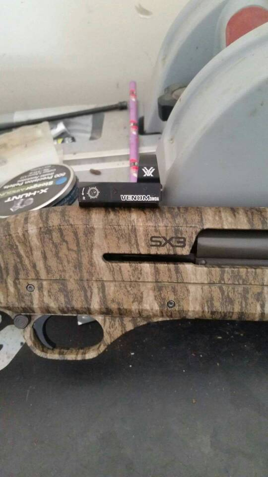What scope rail for Winchester SX3 20 Ga that isn't threaded??