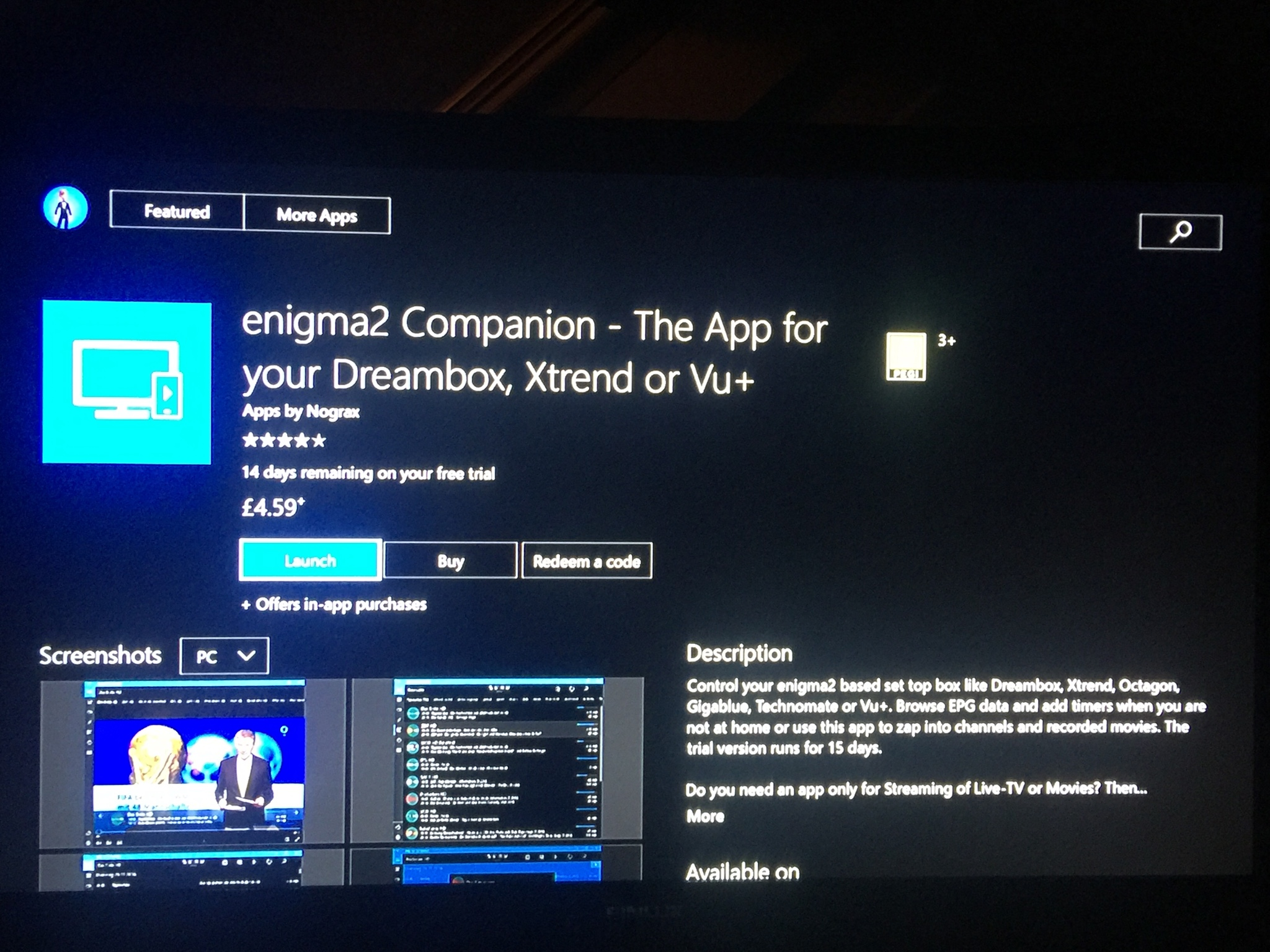 Enigma2 Companion-Xbox ONE | Techkings