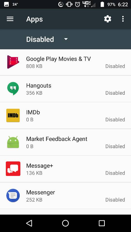Which apps are bloatware on a moto z play droid?